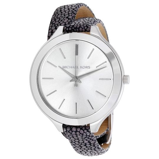 Preload https://item4.tradesy.com/images/michael-kors-grey-womens-leather-double-wrap-strap-mk2475-watch-23330983-0-0.jpg?width=440&height=440