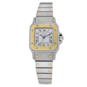 Cartier Authentic Ladies Cartier Santos Galbee 24MM 18K Yellow Gold Automatic