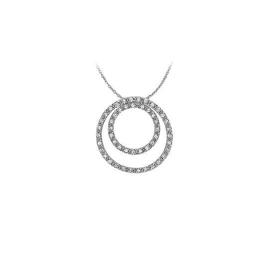 Preload https://img-static.tradesy.com/item/23330991/white-silver-marvellous-cubic-zirconia-double-circle-pendant-in-sterling-wit-necklace-0-0-540-540.jpg