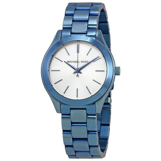 Preload https://img-static.tradesy.com/item/23331025/michael-kors-ocean-blue-women-s-st-steel-bracelet-mk3674-watch-0-0-540-540.jpg