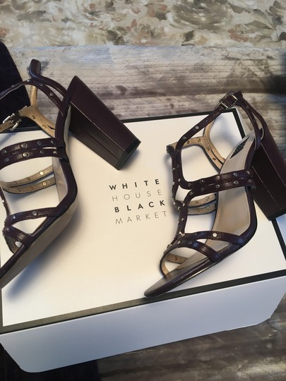 White House | Black Market Cabernet Sandals