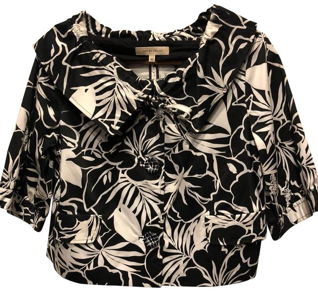 Preload https://item1.tradesy.com/images/see-by-chloe-black-and-white-shrugbolero-ponchocape-size-10-m-23331040-0-1.jpg?width=400&height=650