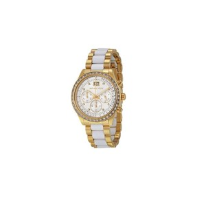 Michael Kors Michael Kors Women's Gold/White St Steel Bracelet Watch MK6189