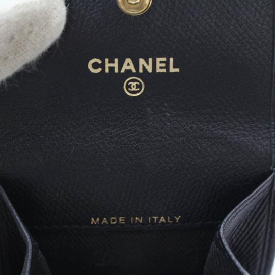 Chanel Chanel Black Caviar Leather Coin Wallet