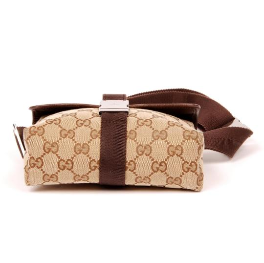 Gucci Gg Monogram Canvas Vintage Brown Excellent Condition 5971 Travel Bag