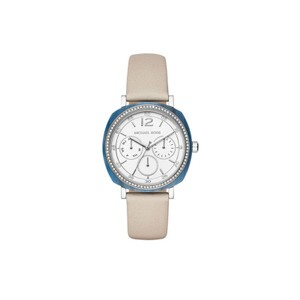 Michael Kors Michael Kors WOMENS Nia Silver Tone And Leather Watch MK2672
