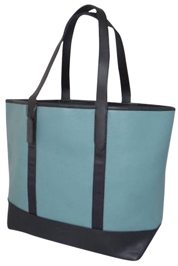 Preload https://item2.tradesy.com/images/coach-west-in-color-blue-green-slate-black-leather-tote-23331081-0-1.jpg?width=440&height=440