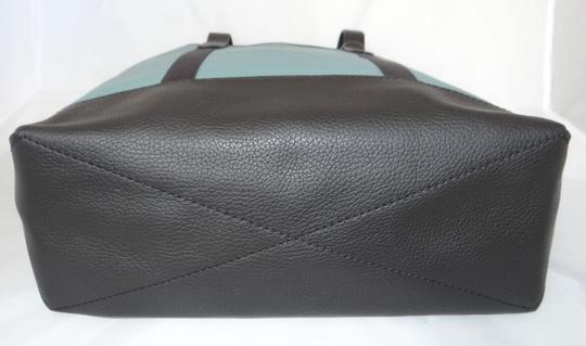 Coach New With Tags Tote in Blue Green / Slate Black