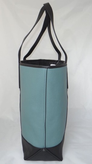 Coach New With Tags Carryall Tote in Blue Green / Slate Black