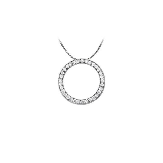 Preload https://img-static.tradesy.com/item/23331100/white-silver-lovely-cubic-zirconia-circle-of-love-pendant-925-sterling-with-necklace-0-0-540-540.jpg