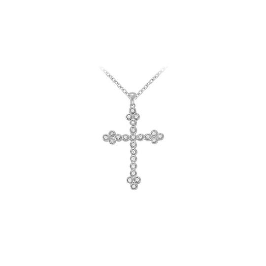 Preload https://item5.tradesy.com/images/white-silver-april-birthstone-cubic-zirconia-cross-pendant-in-925-sterling-necklace-23331109-0-0.jpg?width=440&height=440