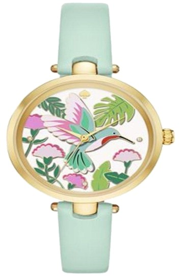 Preload https://item1.tradesy.com/images/kate-spade-goldtonemint-women-s-holland-splash-leather-strap-34mm-ksw1309-watch-23331110-0-3.jpg?width=440&height=440