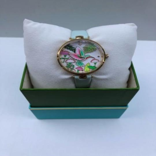 Kate Spade Women's Holland Mint Splash Leather Strap Watch 34mm KSW1309