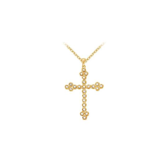 Preload https://img-static.tradesy.com/item/23331116/white-yellow-april-birthstone-cubic-zirconia-cross-pendant-gold-vermeil-on-925-silv-necklace-0-0-540-540.jpg