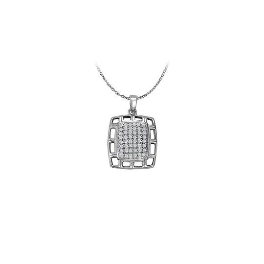 Preload https://img-static.tradesy.com/item/23331138/white-silver-cubic-zirconia-fancy-square-fashion-pendant-in-925-sterling-jew-necklace-0-0-540-540.jpg