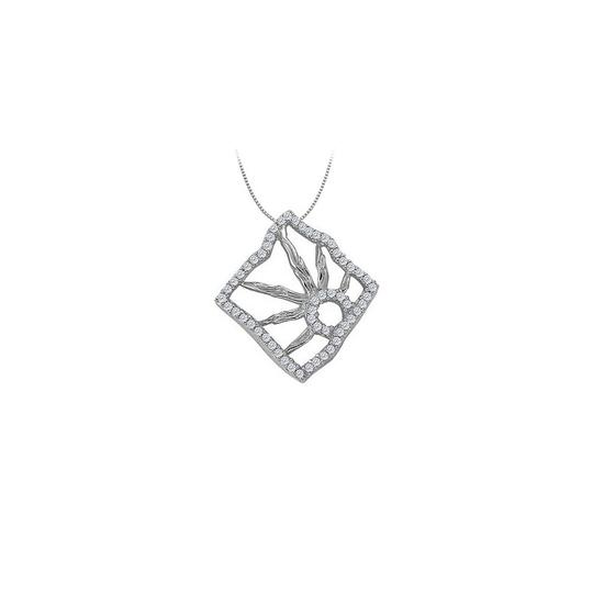 Preload https://img-static.tradesy.com/item/23331163/white-silver-cubic-zirconia-square-shaped-pendant-in-sterling-025-ct-tgwper-necklace-0-0-540-540.jpg