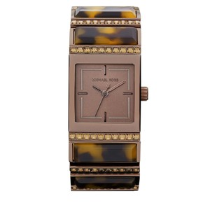 Michael Kors Michael Kors WOMENS Brown Tortoise Square Glitz Bracelet Watch MK4267