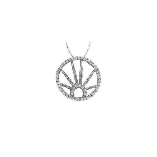 Preload https://img-static.tradesy.com/item/23331179/white-silver-cubic-zirconia-circle-fashion-pendant-in-sterling-025-ct-tgwje-necklace-0-0-540-540.jpg