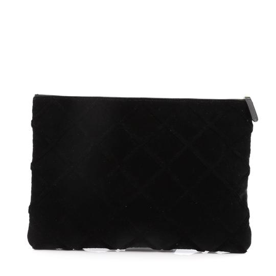 Chanel Cosmetic Velvet Black Clutch