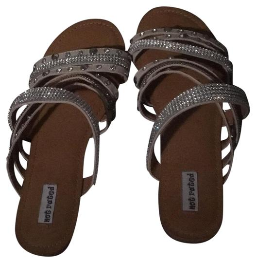 Preload https://item3.tradesy.com/images/not-rated-white-and-silver-stud-sandals-size-us-9-regular-m-b-23331217-0-1.jpg?width=440&height=440