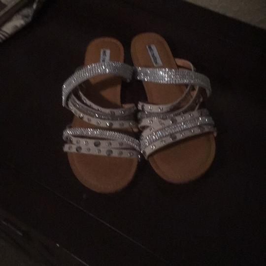 Not Rated white and silver Sandals