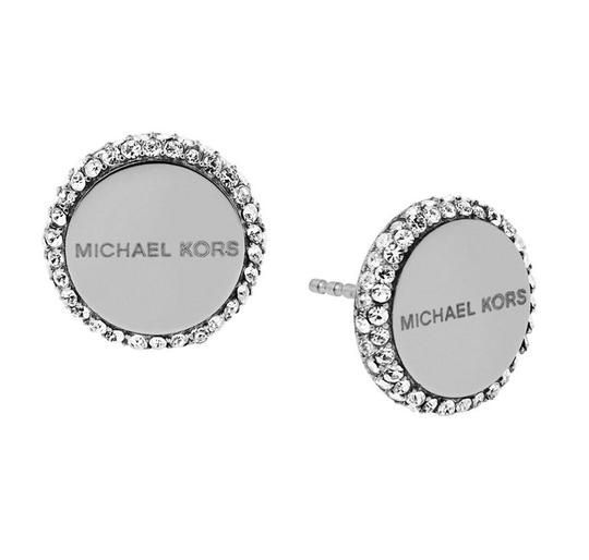 Preload https://img-static.tradesy.com/item/23331219/michael-kors-silver-tone-logo-circle-disc-stud-mkj6182040-earrings-0-0-540-540.jpg
