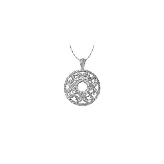 Preload https://img-static.tradesy.com/item/23331253/white-silver-025-carat-total-cubic-zirconia-in-sterling-fancy-circle-fashio-necklace-0-0-540-540.jpg