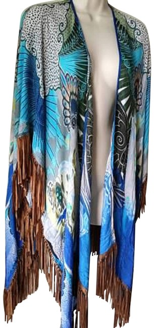 Preload https://img-static.tradesy.com/item/23331254/chico-s-blue-multi-imperial-peacock-fringed-ruana-wrap-shawl-ponchocape-size-os-one-size-0-1-650-650.jpg