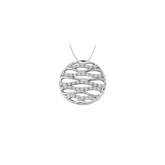 Preload https://img-static.tradesy.com/item/23331295/white-silver-cubic-zirconia-fancy-circle-fashion-pendant-in-sterling-025-ct-necklace-0-0-540-540.jpg