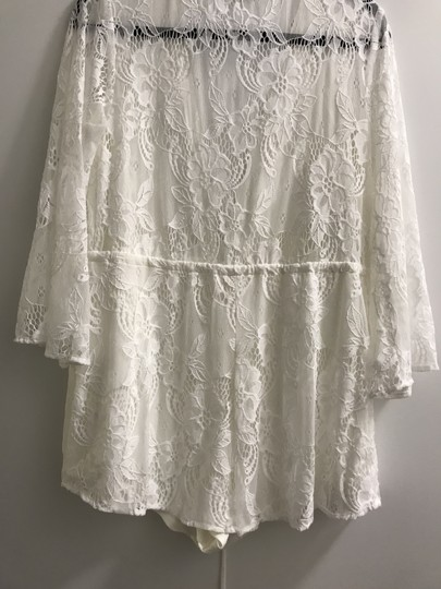 Show Me Your Mumu White Lady In Lace Bridal Romper