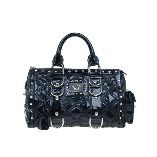 Preload https://img-static.tradesy.com/item/23331315/versace-quilted-snap-out-of-it-satchel-black-fabric-leather-tote-0-0-540-540.jpg