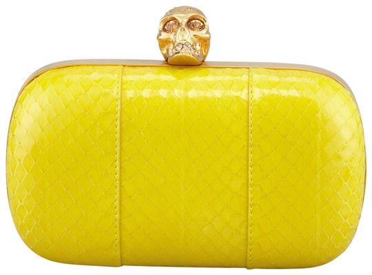Preload https://item4.tradesy.com/images/alexander-mcqueen-classic-snake-and-crystal-skull-yellow-snakeskin-leather-clutch-23331338-0-1.jpg?width=440&height=440
