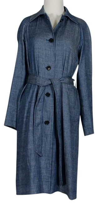 Preload https://item1.tradesy.com/images/club-monaco-chambray-spring-trench-coat-size-4-s-23331380-0-1.jpg?width=400&height=650