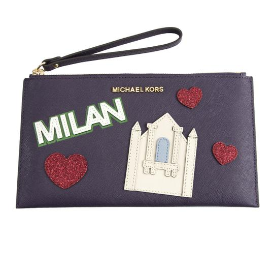 Preload https://item1.tradesy.com/images/michael-kors-nouveau-novelty-milan-purple-saffiano-multicolor-leather-clutch-23331460-0-0.jpg?width=440&height=440