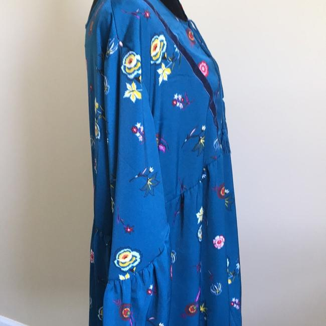 Old Navy short dress Teal blue and Floral on Tradesy