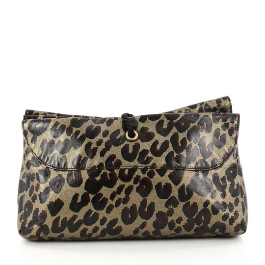 Louis Vuitton Nocturne Leather Leopard Clutch