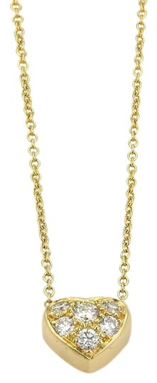 Preload https://item4.tradesy.com/images/tiffany-and-co-diamond-18k-yellow-gold-heart-pendant-chain-necklace-23331563-0-1.jpg?width=440&height=440