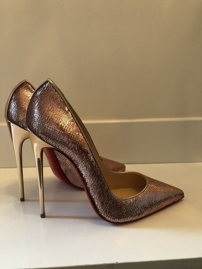 Christian Louboutin Sequin So Kate Pigalle rose gold Pumps