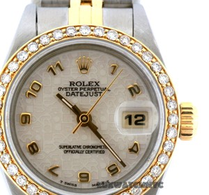 Rolex 1ct 26MM Ladies Datejust with Box & Appraisal Watch