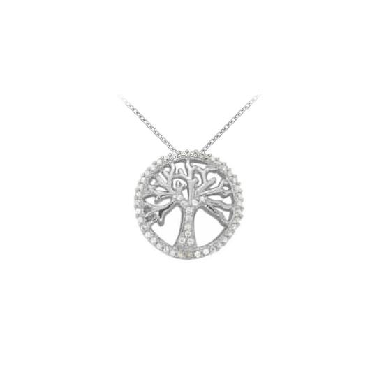 Preload https://img-static.tradesy.com/item/23331631/white-silver-cubic-zirconia-fancy-circle-fashion-pendant-in-sterling-025-ct-necklace-0-0-540-540.jpg
