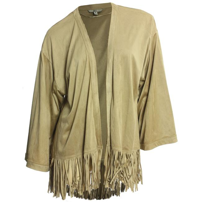 Preload https://item3.tradesy.com/images/gh-bass-and-co-beige-medium-kimono-sleeve-faux-suede-fringe-trim-spring-jacket-size-10-m-23331642-0-0.jpg?width=400&height=650