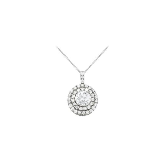 Preload https://item1.tradesy.com/images/white-silver-cubic-zirconia-halo-pendant-in-sterling-250-ct-tgwperfect-jewe-necklace-23331650-0-1.jpg?width=440&height=440
