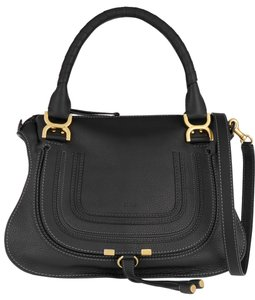 Chloé Medium Marcie Textured Leather Tote in black