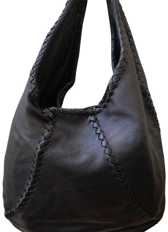 aed355fc5e Bottega Veneta Cervo Black Deerskin Leather Hobo Bag - Tradesy