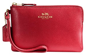 Coach New With Tags Wristlet in TRUE RED