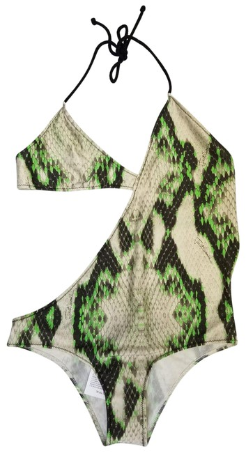Preload https://item3.tradesy.com/images/just-cavalli-gray-and-green-women-snake-print-asymmetric-swimsuit-bikini-one-piece-bathing-suit-size-23331677-0-1.jpg?width=400&height=650