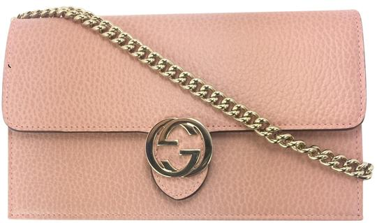 0be84e1c44e 510314 23331688. gucci 510314 gg closure chain crossbody wallet soft pink  leather cross body bag ...
