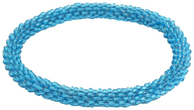 Anthropologie Blue Beaded Rope Bracelet Anthropologie Blue Beaded Rope Bracelet Image 1