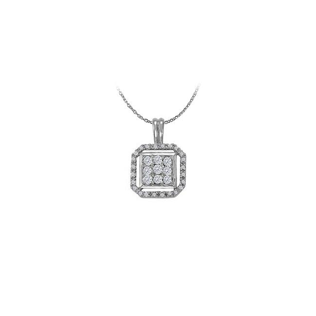 White Silver Stunning Cubic Zirconia Pendant In 925 Sterling Available At Mo Necklace White Silver Stunning Cubic Zirconia Pendant In 925 Sterling Available At Mo Necklace Image 1