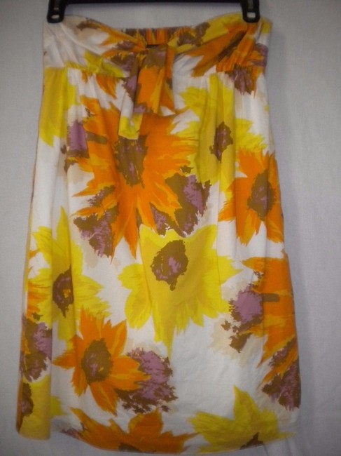 J.Crew Tunic Strapless Floral Top Multi-Color